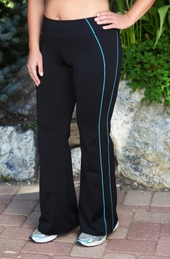 Women's Plus Size Activewear - Always For Me Active Micro Poly Side Detail Pant