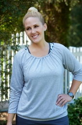 Women's Plus Size Activewear - Always For Me Active Open Back Yoga Top
