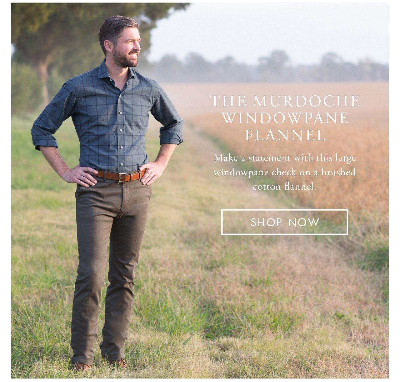 The Murdoche Windowpane Flannel