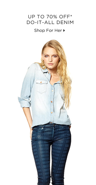 Up To 70% Off* Do-It-All-Denim