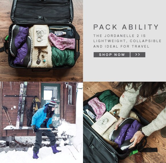 PACK ABILITY. SHOP NOW.