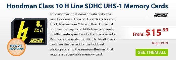 Adorama - Hoodman Class 10 H Line SDHC UHS-1 Memory Cards
