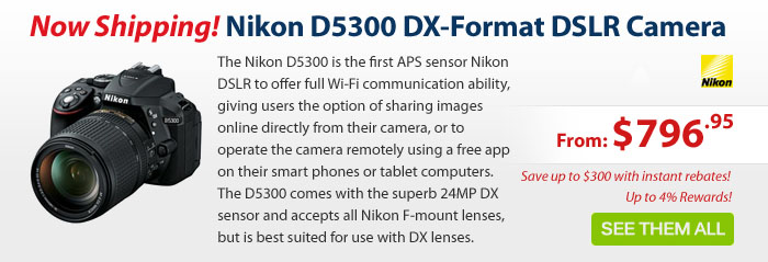 Adorama - Nikon D5300 DX-Format DSLR Cameras