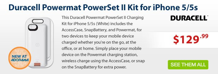 Adorama - Duracell Powermat - Wireless Power for iPhone 5/5s
