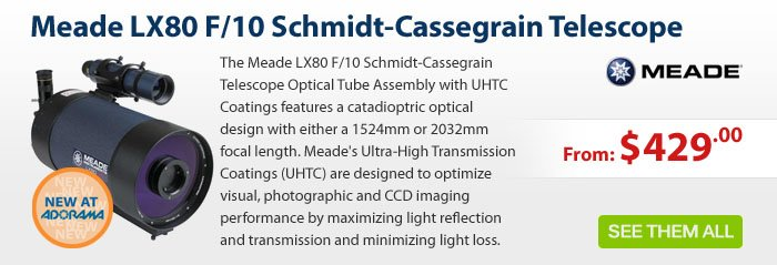 Adorama - Meade 6 and 8 LX80 F/10 Schmidt-Cassegrain Telescope Optical Tube Assembly with UHTC Coatings