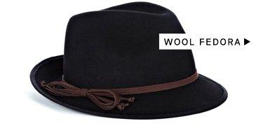 Menswear-Inspired Accessories: Shop Wool Fedora
