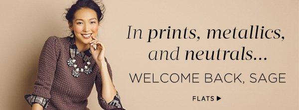 In prints, metallics, and neutrals...our newest flat. Shop Flats