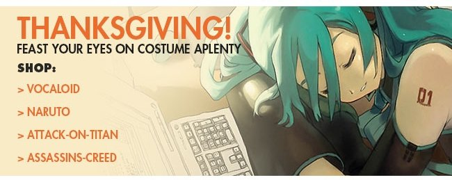 Thanksgiving! Feast Your Eyes on Costume Aplenty Shop: