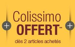 Colissimo offert** dès 2 articles achetés