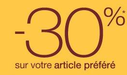 -30%* sur votre 2ème article préféré