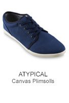 Atypical Canvas Plimsolls