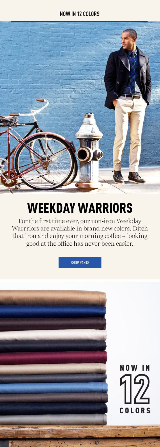 Weekday Warriors New Colors