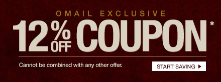 Omail - 12% off Coupon - Cannot be combined with any other offer. - Start Saving