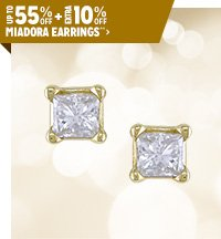 Up to 55% off + Extra 10% off Featured Miadora Earrings**