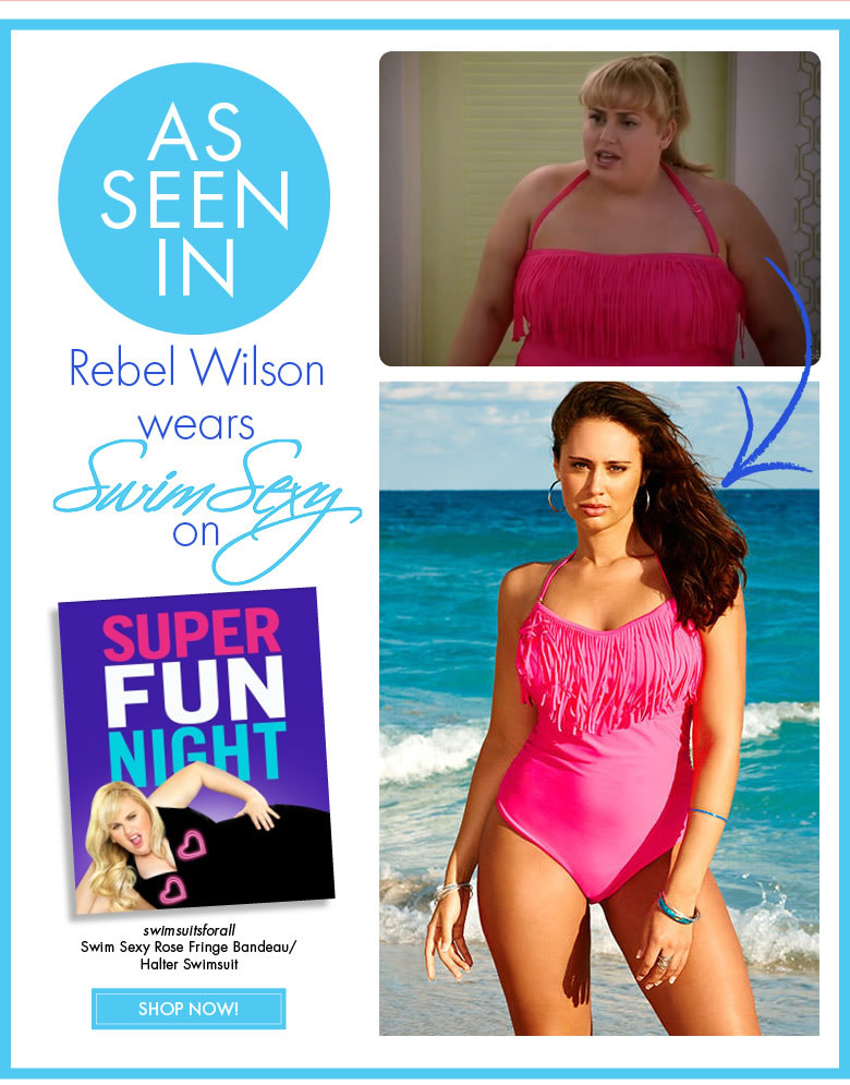 As seen in Rebel Wilson wears Swim Sexy on Super Fun Night - Shop Now