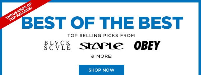 Best Sellers from BLVCK SCVLE, Staple, Obey and More!