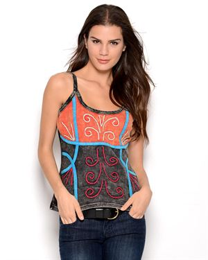 Lumbini Imports Embroidered Tank
