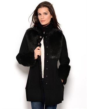 CoVelo Merino Wool & Silk Button-Up Jacket