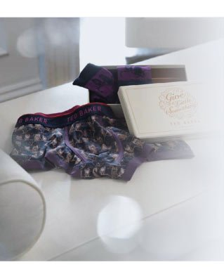 Ted Baker Owl Boxer and Sock Gift Set $44