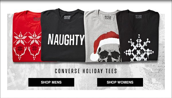 CONVERSE HOLIDAY TEES