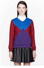 OSTWALD HELGASON Red colorblocked Sweatshirt for women