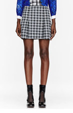 OSTWALD HELGASON Black & White painted Glen check Skirt for women