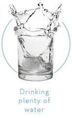 Drinking plenty of water
