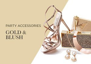 Party Accessories: Gold & Blush