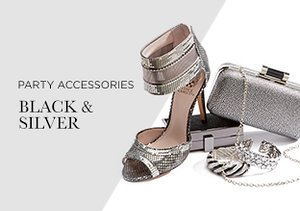 Party Accessories: Black & Silver