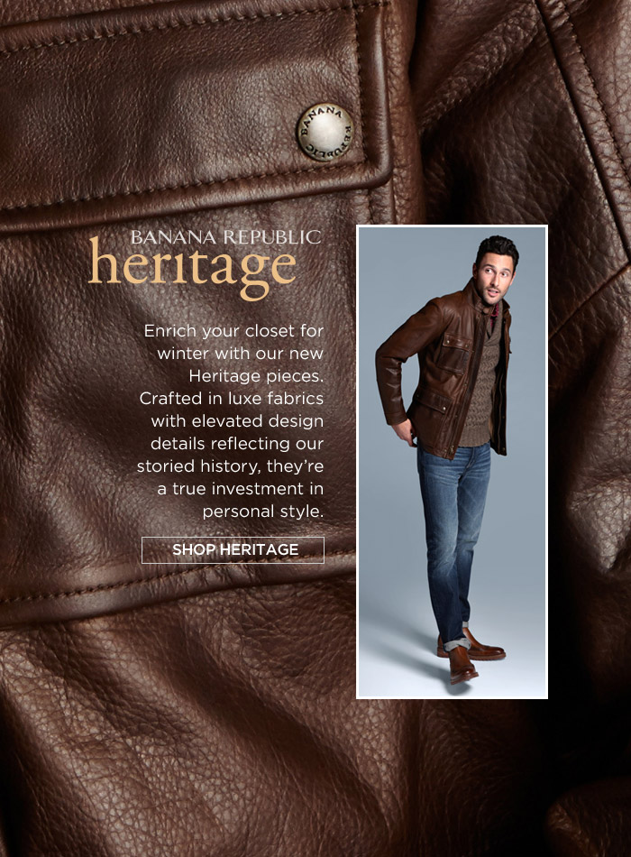 BANANA REPUBLIC heritage | SHOP HERITAGE