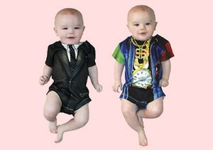 Faux-Real: Quirky Baby Bodysuits
