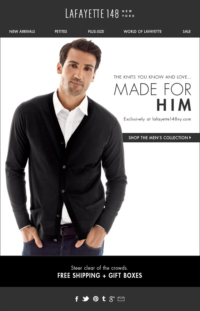 New: Luxury Made for Him