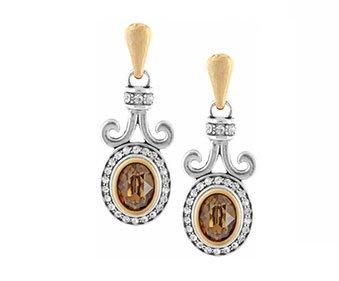 Lions Eye Post Drop earrings