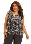 Web Exclusive: Double Layer Animal Print Top
