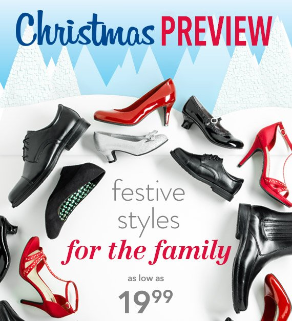 CHRISTMAS PREVIEW - Festive styles for the family as low as $19.99!
