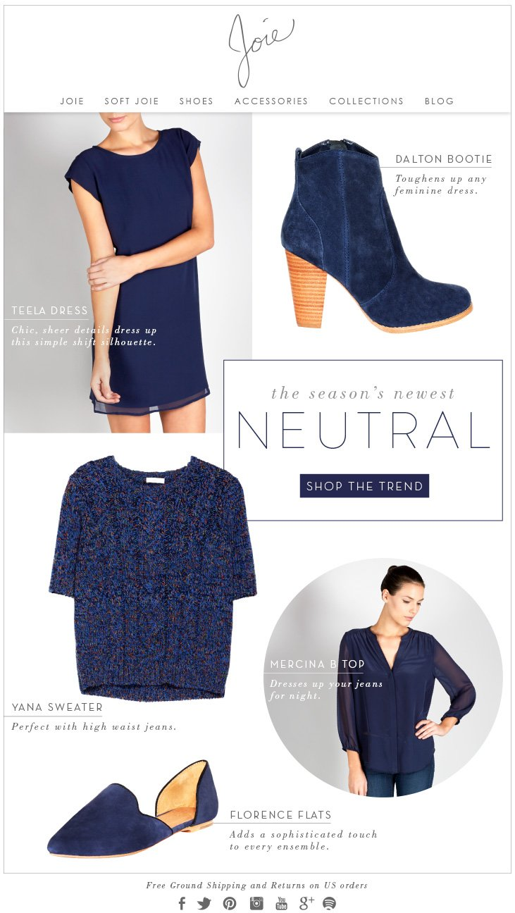 the season's newest NEUTRAL SHOP THE TREND