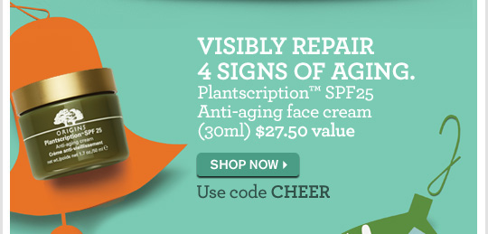 VISIBLY REPAIR 4 SIGNS OF AGING Plantscription SPF25 Anti aging face cream 30ml 27 dollars and 50 cents value SHOP NOW