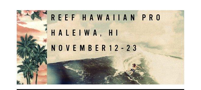 2013 Reef hawaiian Pro