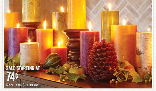 Save 25% on All Candles