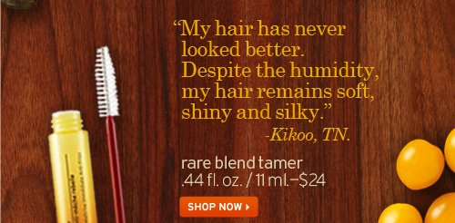 My  hair has never looked better Despite the humidity my hair remains soft  shiny and silky Kikoo TN rare blend tamer SHOP NOW