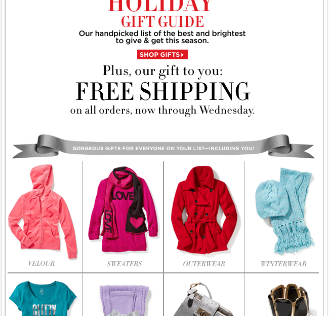Introducing the Holiday Gift Guide + FREE Shipping!
