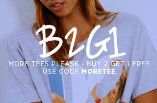 More Tees Please: Buy 2, Get 1 Free