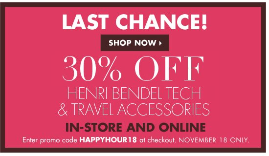 30% OFF HAPPY HOUR
