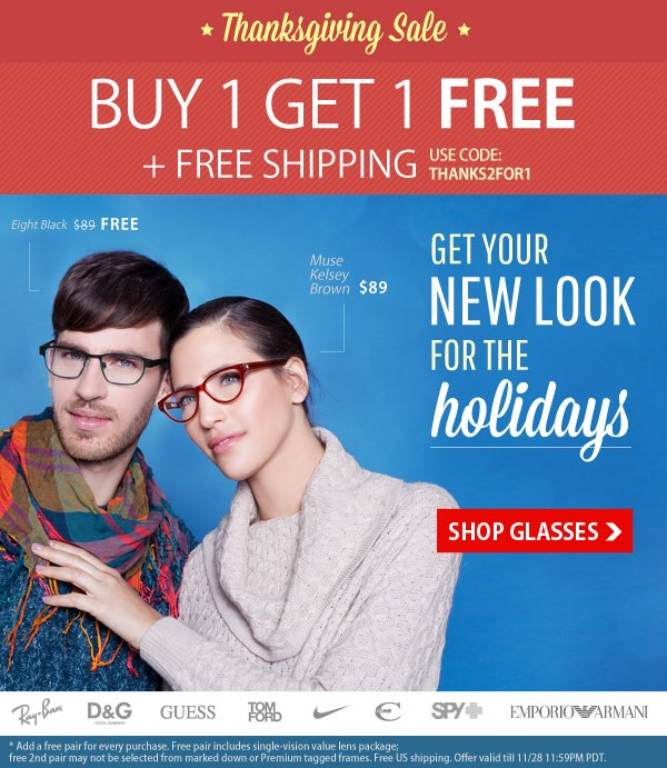 Buy One Get One Free + Free Shipping!