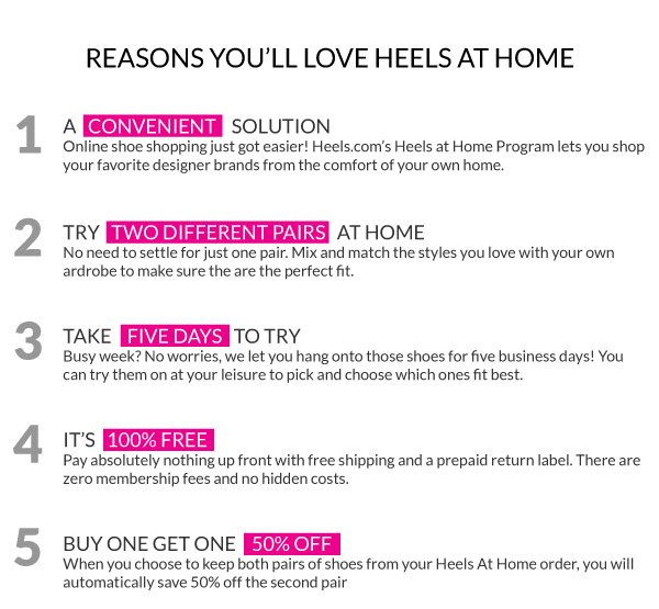 Top 5 Reasons You'll Love Heels At Home