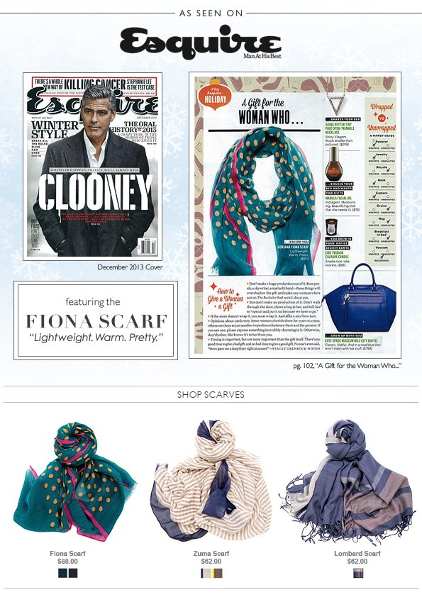 Esquire's Perfect Holiday Gift for Her – The gorjana Fiona Scarf