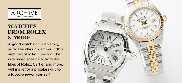 ARCHIVE: Watches from Rolex & More