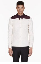 PAUL SMITH Peach COLORBLOCKed shirt for men