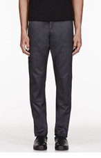 A.P.C. Deep charcoal CARHARTT edition Mission Cargo Trousers for men