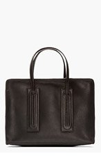 RICK OWENS BLACK Leather NEW WORK BRIEFCASE for men